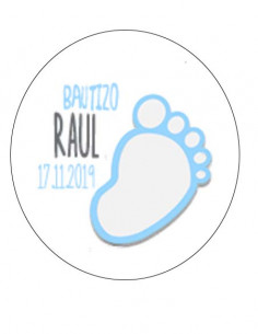 Etiqueta Bautizo - Pie