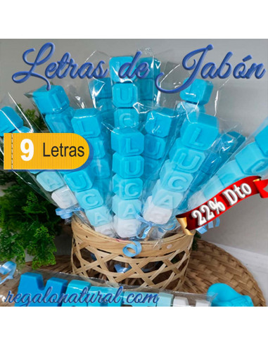 Letras Jabon (9 letras)