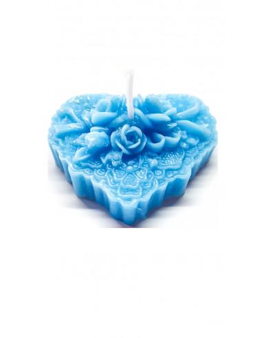 Vela Corazón Azul